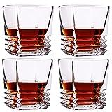 Bierkrug Whiskyglas Old Fashioned Whiskygläser 10 Oz Barware Für Scotch Bourbon Likör Und Cocktailgetränke 4er Set (Color : Clear, Size : 8.8×9cm)