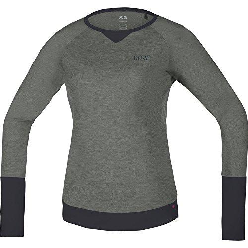 GORE Wear Atmungsaktives Damen Langarm Mountainbiketrikot, C5 Women Trail Long Sleeve Jersey, 40, Grau/Dunkelgrau, 100215