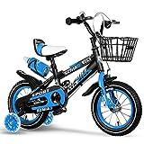 TCGYX Bicicleta for niños Bicicleta for niños y niñas, 12 14 16 18 Bicicleta de 20 Pulgadas, Disponible en una Variedad de Colores (Color : Blue, Size : 16 Inch)