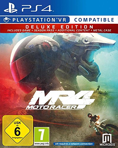 Moto Racer 4 Deluxe Season Pass+DLC+Steelbook Jeu PS4 + PlayStation VR