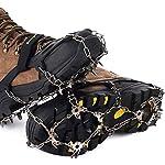 Tacchette da Ghiaccio Antiscivolo in Acciaio Inossidabile Ramponi Portatili con 19 Denti per Outdoor Ghiaccio Neve Escursionismo Vdealen Ramponi da Ghiaccio