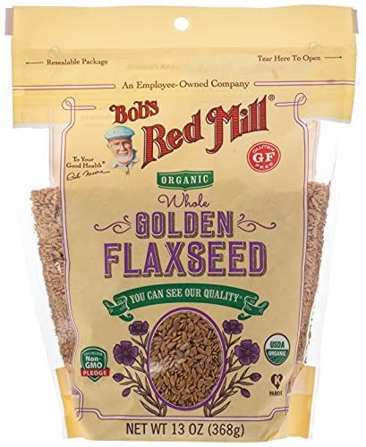 Bob's Red Mill Organic Raw Whole Golden Flaxseeds, 13 Oz