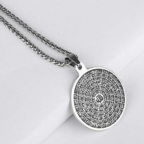 WYFLL Husna Stainless Steel Simple Allah Pendant Necklace Accepts Disembarkation Jewelry Accessories Fashion Personality