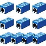 Frienda Acoplador RJ45, Adaptador de Extensión Ethernet Conector de Red para...