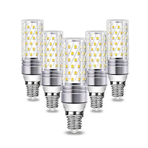 Lampadine LED E14 Wowatt Luce Bianca Fredda 6000K 16W 1600LM Equivalente a 100W 120W RA80 Lampade Mais Per Lampadario Cucina Camera Soggiorno Bagno Interno Esterno 230V NON Dimmerabile, 5 Pack