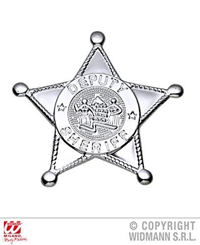 Silver Sheriff Star Badge Zubehör für Wild West Cowboys & Indianer Fancy Dress Up Kostüme & Outfits