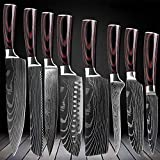 Best Chef Knife Set Professionals - D&G 8 Piece Kitchen Chef 8 inch Kitchen Review