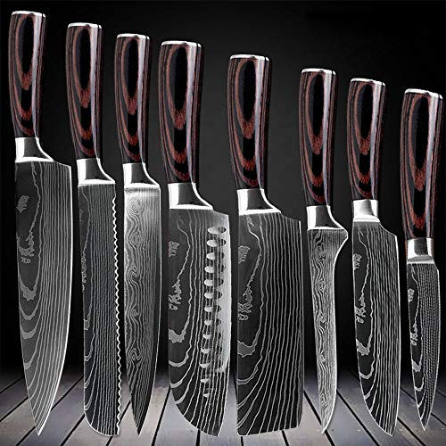 D&G 8 Piece Kitchen Chef Knife Set