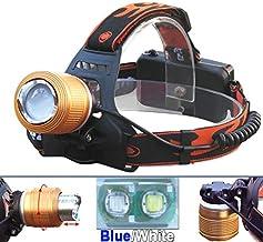 Hoofd Torch Wit Blauw Licht Zoom Led Koplamp Xml T6 Waterdichte Koplamp 18650 Zaklamp Vissen Hoofd Licht Hoofd Lamp Frontale