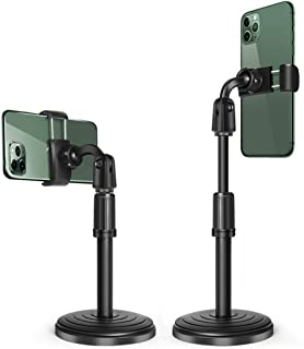 Cell Phone Stand,Multi-Angle Adjustable Desk Mount Holder,Universal Desk Stand for iPhone Android,Compatible with All Andr...