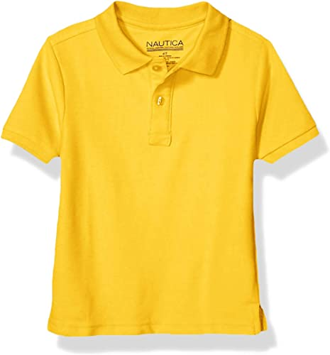 Nautica Boys' School Uniform Short Sleeve Pique Polo