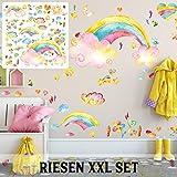 Adhesivo decorativo para pared (tamaño XXL, 126 x 60 cm), varios diseños, Multicolor