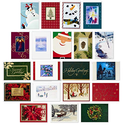 Hallmark Assorted Boxed Christmas Cards (Set of 20 Holiday Greeting Cards and Envelopes)