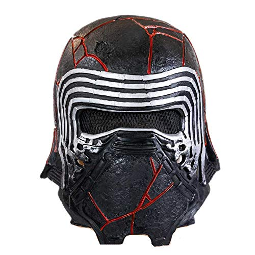 BIRDEU Kylo Ren Maske SW9 The Rise of Skywalker Film Voller Kopf Latex Helm für Herren Erwachsene Halloween Cosplay Kostüm Replik 2019