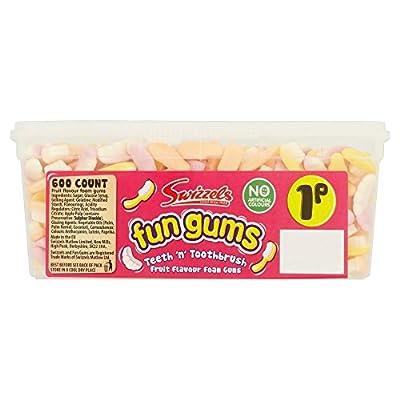 (00 pack) swizzels fun gum teeth & tooth brush - 1p x (00 Pack) Swizzels Fun Gum Teeth & Tooth Brush – 1p x 51BpMOjIA0L