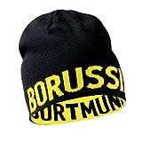 Borussia Dortmund BVB Wendemtze, Schwarz/Gelb, Schriftzug, Mtze Beidseitig Tragbar, fr Erwachsene, Baumwolle/Polyacryl (Schwarz-Gelb), Schwarz-Gelb, one size