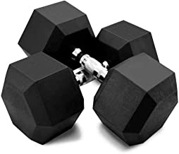 All-Purpose Dumbbells with Metal Handles, Dumbbells Hex Rubber Coded Dumbbell for Strength Training