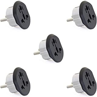 Five pieces electrical socket with universal input and EU output