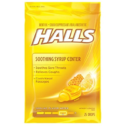 Halls Plus Drops Honey-Lemon 25 Each (Pack of 6)