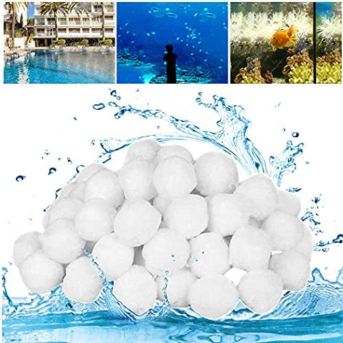 SUPERSUN Filterbälle 700g ersetzen 25kg Filtersand, Filteranlage Pool Polysphere Filterbälle für Sandfilteranlage, Pool Zubehör Ersatz