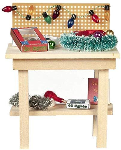 Melody Jane Dolls Houses Casa delle Bambole Natale Lavoro Bench Babbo Natale Officina Giocattolo da Negozio Mobili