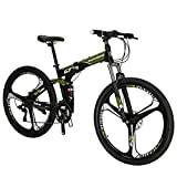 Folding Bike TSM G7 Bicycle 27.5Inch Bike Dual Disc Brake Mountain Bike (Armygerrn 3-Spoke)…