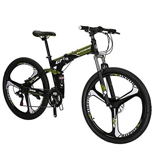 SL G7 Mountain Bike 27.5 3 spoke bike Folding Bike green bike(GREEN)