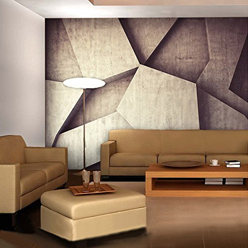 Mznm Customized 3D Stereoscopic Irregular Geometry Graph Mural Wallpaper Office Living Room Cafe Backdrop Wallpaper -350X250Cm