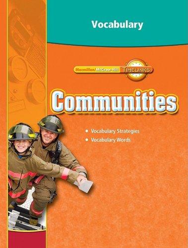 TimeLinks: Third Grade, Communities, Vocabulary Blackline Masters (OLDER ELEMENTARY SOCIAL STUDIES)
