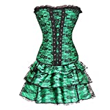 Women's Palace Strapless Corset Bustier Tutu Skirt Corset Lace Body shaping underwear Suit Halloween Lace up...