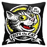 Fritz - Fundas de almohada para sofá, cama, decoración del hogar, 45 x 45 cm
