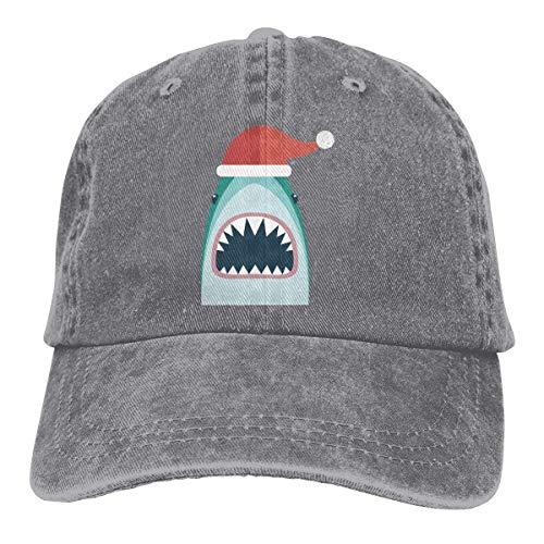 XCNGG Santa Jaws Underwear Sombreros de Vaquero Unisex Sombrero de Mezclilla Deportivo Gorra de béisbol de Moda Negro