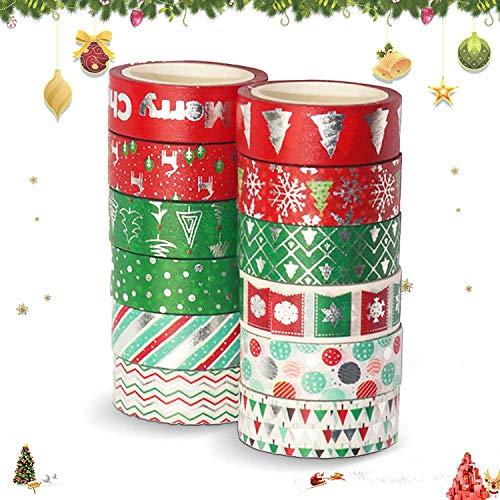 Cinta de papel de decoración navideña,Adhesivo Cinta Decorativa,DIY Crafts...
