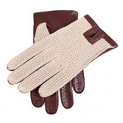 Dents Anglais Tan Cotton Crochet Retour conduite gants 10 10