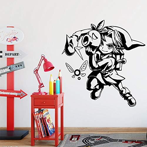 mlpnko Cute Warrior Sticker Decorativo Habitación para niños Impermeable Decoración del hogar Wall Art Sticker Mural 68X70cm