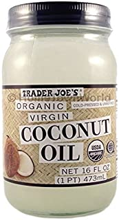 Best NEW Trader Joes(16 fl oz) Coconut Certified Organic Extra Virgin Coconut Oil by Trader Joes Review