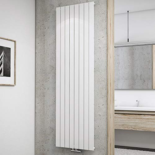 Schulte Design-Heizkörper Aachen, 200 x 61 cm, 1502 Watt Leistung, Mittelanschluss, alpin-weiß, Wohnraum-Heizkörper für Zweirohr-Systeme
