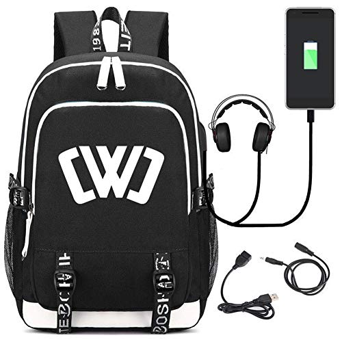 Backpacks Student School Bag Chad Wild Clay Printed Laptop Backpack with USB Charging Port