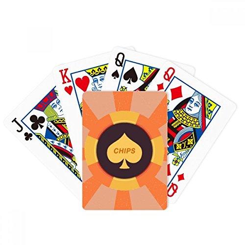 Gelbe Spaten Chips Illustration Muster Poker Spielen Magic Card Fun Brettspiel