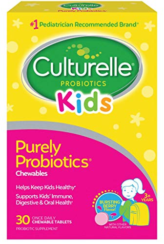 Culturelle Kids Chewable Daily Probiotic for Kids -Natural Berry? Supports Immune, Digestive, and Oral Health ? For Age 3+ - Gluten,Dairy,Soy-Free - Packaging May Vary - 30 count
