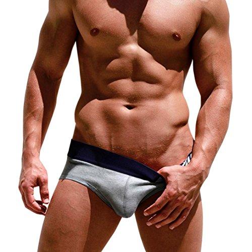 Hunpta Herren Boxershorts, PINK Heroes Sexy Herren Boxer Unterhose Briefs Shorts Beutel weiche Baumwolle Unterwäsche (Gray, XL)