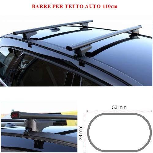 Compatibel met Seat Altea XL 5P (2006 >) imperiaal, dakdrager, 110 cm, voor auto's met hoge en lage helling, compleet met dakhouder van staal, zwart