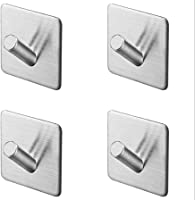 Adhesive Wall Hooks Heavy Duty 6 Pack Removable Sticky Hanging Wall Hangers and Hooks for Robe Towel Home Office Kitchen Bedroom KoHuiJoo Self Adhesive Hooks