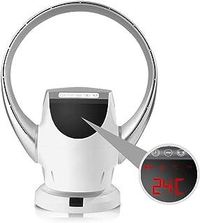 LMDX Super Silencioso Ventilador Sin Aspas - Ventiladores De Pared con Mando,Bajo Consumo,Oscilación,Seguro para Niños Y Mascotas,Ventilador Pie
