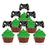 Mity rain Video Game Controllers Cupcake Toppers-Gamepad Cake Picks Game Themed Birthday A...