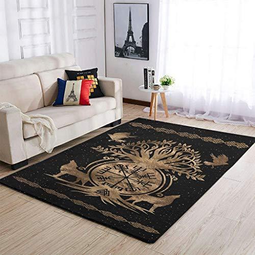 luxuriös Wikinger-Kompass Teppiche Dekorieren Wohnzimmer Teppiche - für Büro White 91x152cm