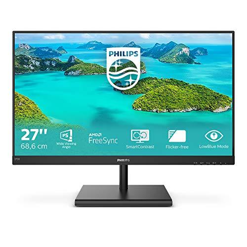 Philips 272E1SA - Monitor FHD da 27 , FreeSync (1920 x 1080, 75 Hz, VGA, HDMI, DisplayPort), colore: Nero