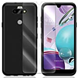 High Responsivity Anti-Shatter Heavy-Duty Explosion-Proof Tempered Glass Screen Protector Flim Full Coverage Shell Soft Slim TPU Case Cover Skin for LG K31 LM-K300QM Spectrum Mobile
