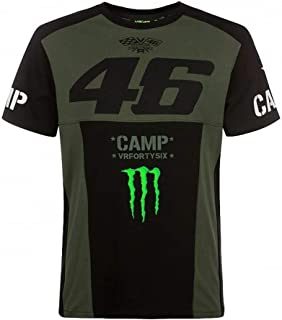 T-Shirt Monster Camp VR46 Valentino Rossi 46 Official Collection Located in USA