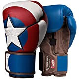 Hayabusa Marvel Captain America Boxing Gloves - Blue, 12oz